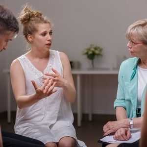 46273281 - group of addicted people during psychological therapy
